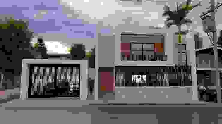 Fachada frontal: Casas unifamiliares de estilo  por Zayas Group,