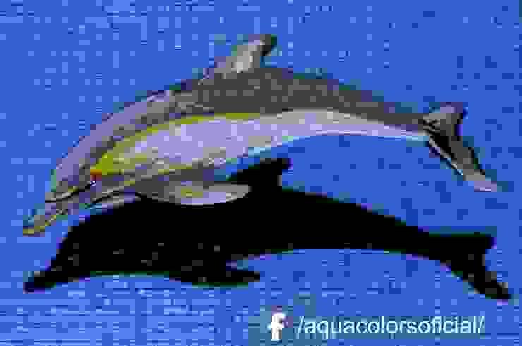 F-20-100 Delfin Gris De Mosaico Veneciano Aquacolors / Moretti A&D Piscinas