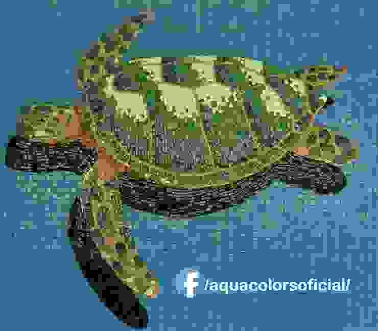F-25-115 Tortuga De Mosaico Veneciano Aquacolors / Moretti A&D Piscinas