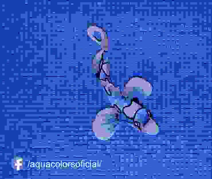 F-03A-60 Pez Koi Azul De Mosaico Aquacolors / Moretti A&D Piscinas