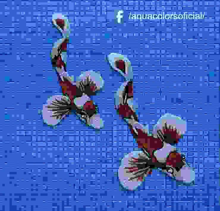 F-03R-48-60 Peces Koi Rojos De Mosaico Veneciano Aquacolors / Moretti A&D Piscinas