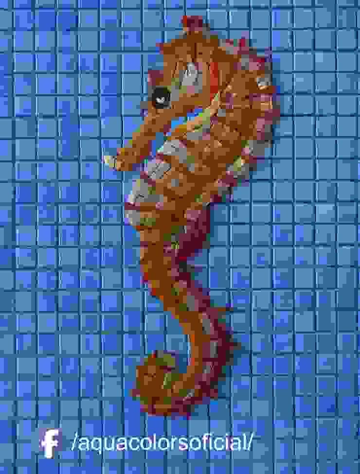 F-05-40D Caballito Mar Dorado De Mosaico Veneciano Aquacolors / Moretti A&D Piscinas