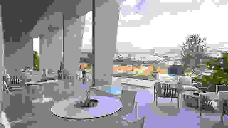 VillaSi Construcciones Balcone, Veranda & Terrazza in stile moderno