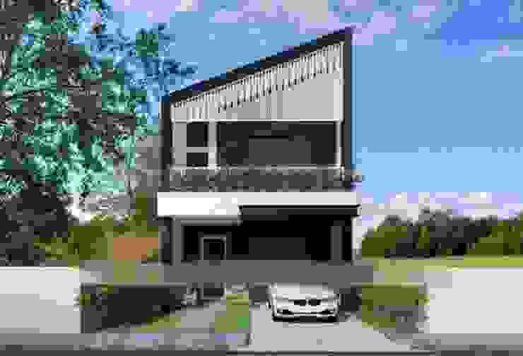 Tổng hợp các mẫu nhà phố mái lệch được ưa chuộng nhất năm 2019 bởi Kiến Trúc Xây Dựng Incocons