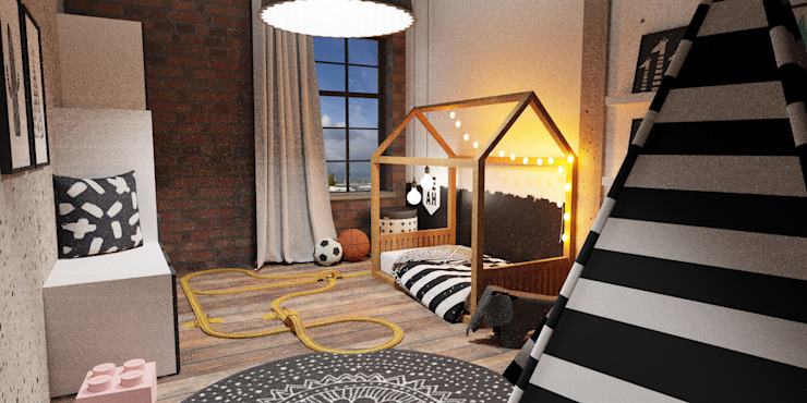 Kinderzimmer Industrieloft Industriale Kinderzimmer von Der Schlüssel zum Glück - Interior Design Industrial