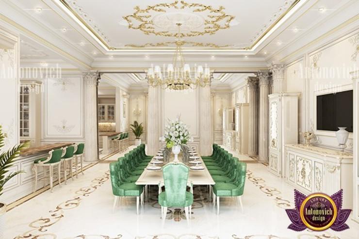 Nature Inspired Dining Room by Luxury Antonovich Design
