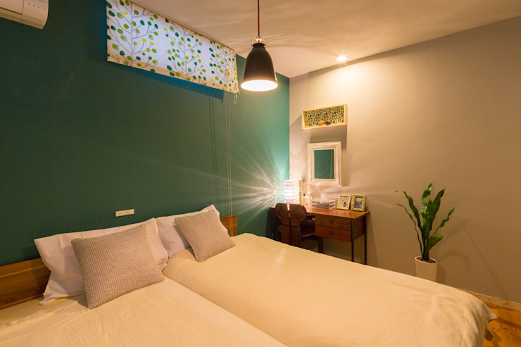 原山Y邸 株式会社アートアーク一級建築士事務所 小さな寝室 緑
