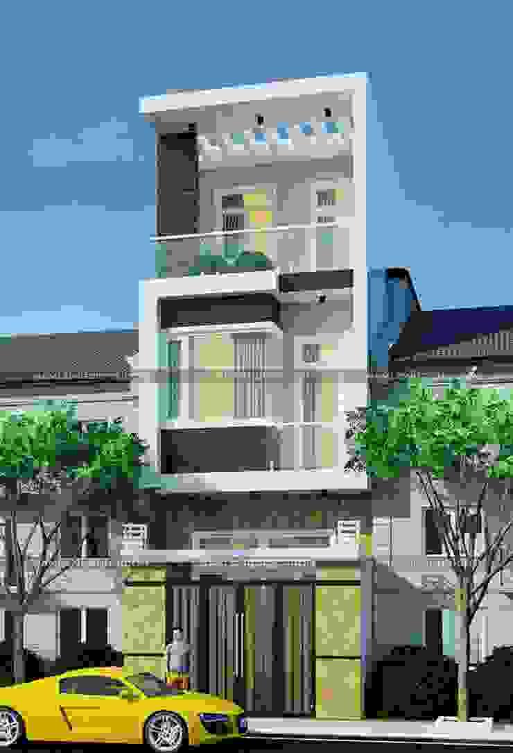 Mẫu nhà 2 tầng rưỡi đẹp bởi Nam Long construction