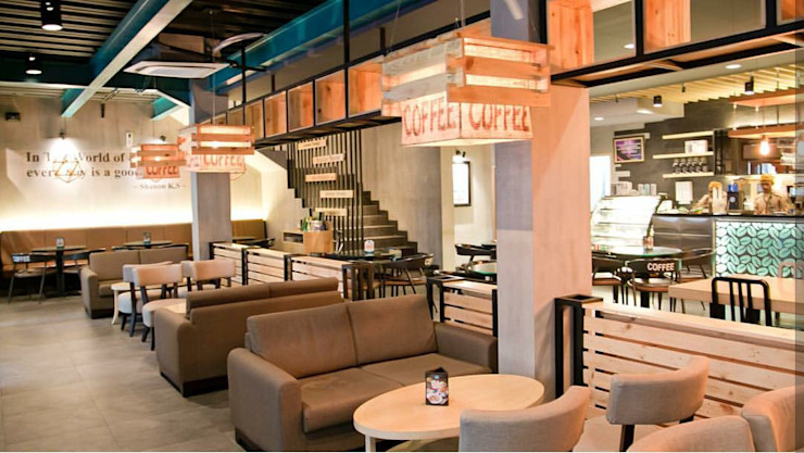 Excellso Cafe Surabaya:modern  oleh PT. Evata Furniture, Modern Kayu Wood effect