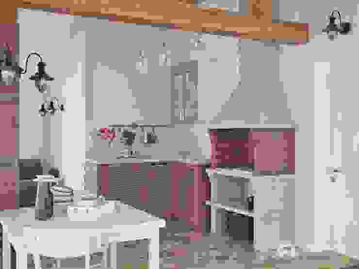 Зона барбекю: Кухни в . Автор – Архитектурная студия 'АВТОР', Эклектичный