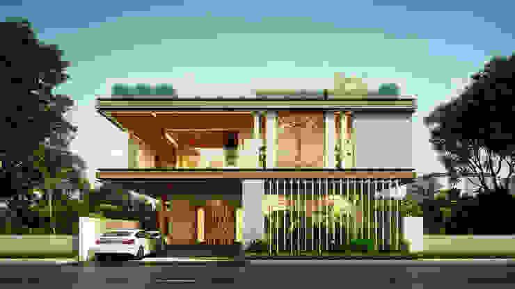 House@vijaywada Minimalist houses by B Design Studio Minimalist