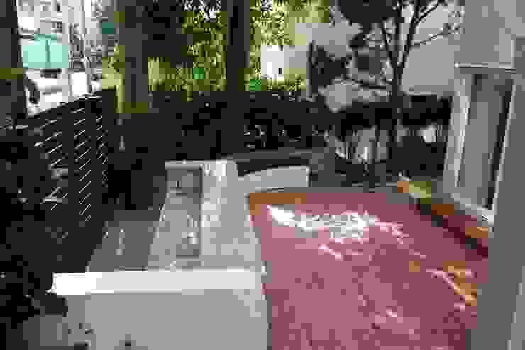 庭院後方吧台 根據 大地工房景觀公司 熱帶風