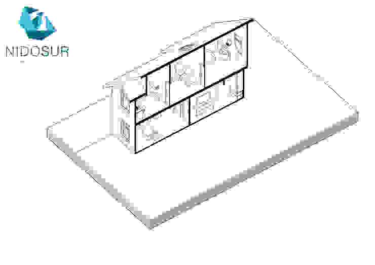 Diseño de Casa MR1 en Loncoche por NidoSur Arquitectos de NidoSur Arquitectos - Valdivia Moderno