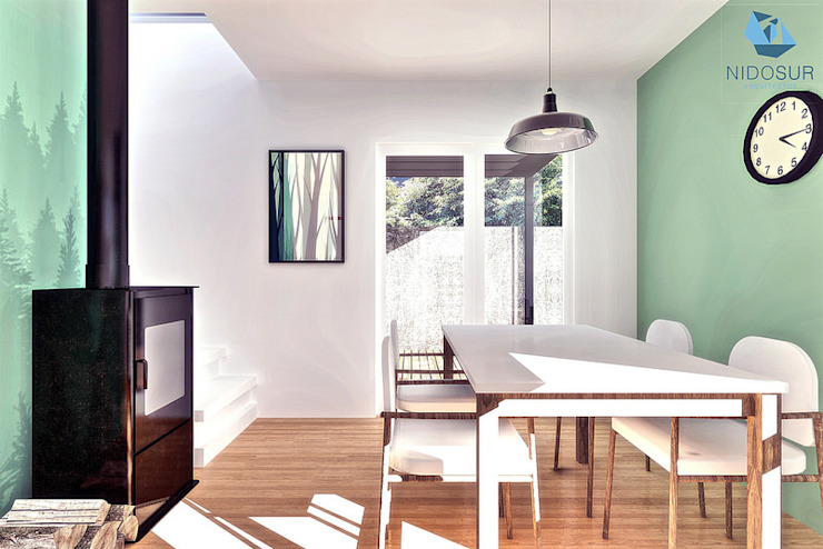 Modern dining room by NidoSur Arquitectos - Valdivia Modern