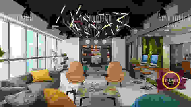 Bold office interior by creative woman designer by Luxury Antonovich Design