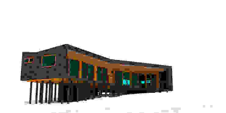 VIVIENDA EN FUNDO MILLACO de Kimche Arquitectos