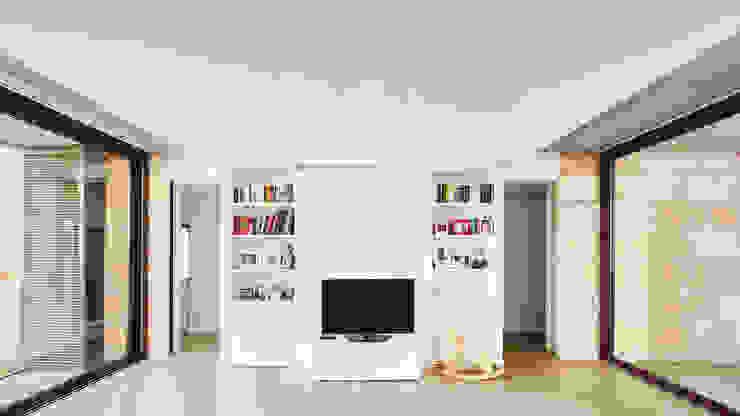 CASA ES CARNATGE Salones de estilo moderno de Miel Arquitectos Moderno