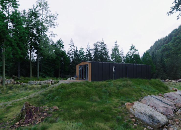 Модульный деревянный дом 53 кв.м: Сборные дома в . Автор – Module dom,