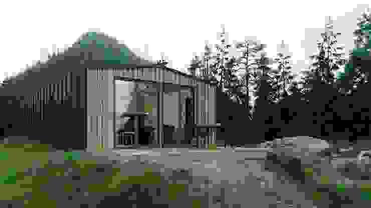 Модульный деревянный дом 53 кв.м: Дома с террасами в . Автор – Module dom,