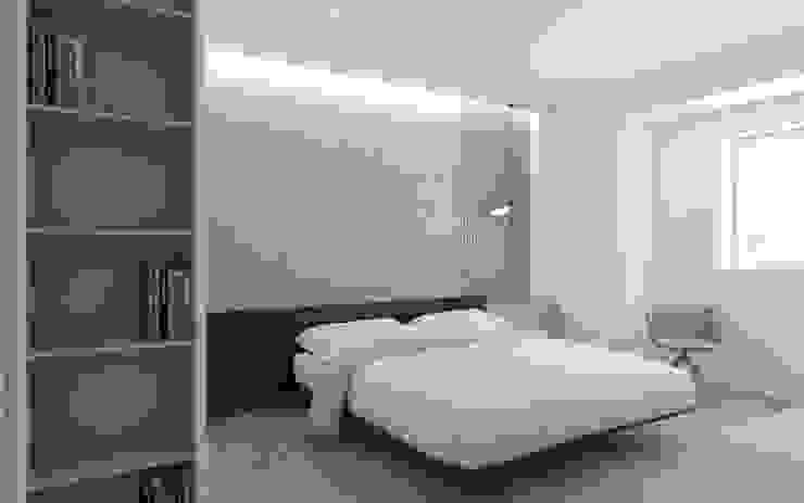 La matrimoniale DFG Architetti Associati Camera da letto minimalista