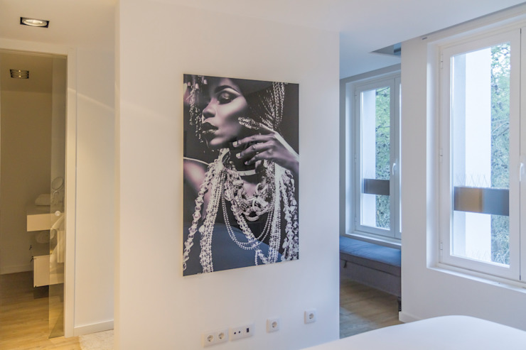 Remodelação total apartamento na Costa da Guia, Cascais Quartos modernos por ARQ1to1 - Arquitectura, Interiores e Decoração Moderno