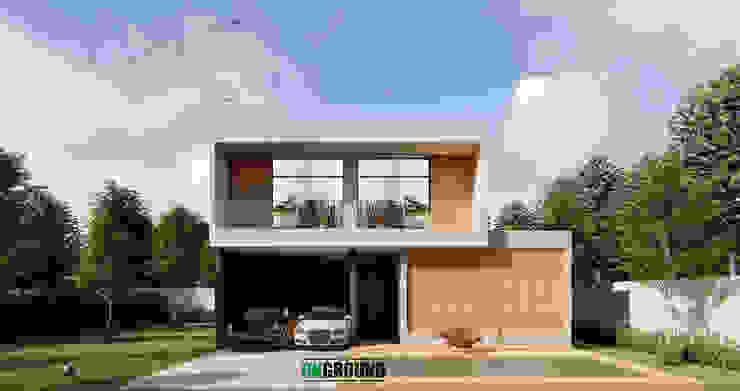THAI-NIPPON HOUSE โดย The OnGround บริษัทรับสร้างบ้านสไตล์ Modern Japanese มินิมัล คอนกรีตเสริมแรง