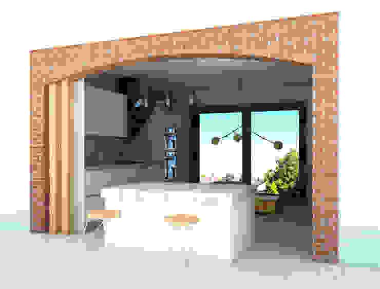 ห้องครัว by SKY İç Mimarlık & Mimarlık Tasarım Stüdyosu