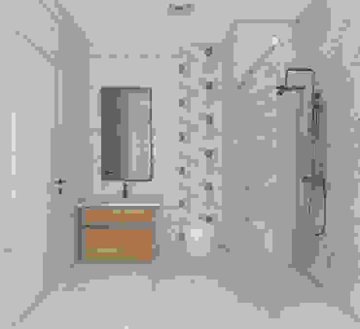 モダンスタイルの お風呂 の SKY İç Mimarlık & Mimarlık Tasarım Stüdyosu モダン