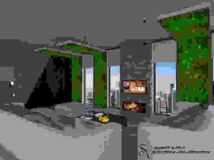 ห้องนั่งเล่น by SKY İç Mimarlık & Mimarlık Tasarım Stüdyosu