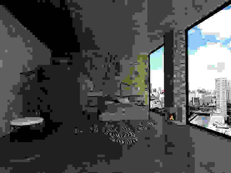 モダンスタイルの寝室 の SKY İç Mimarlık & Mimarlık Tasarım Stüdyosu モダン