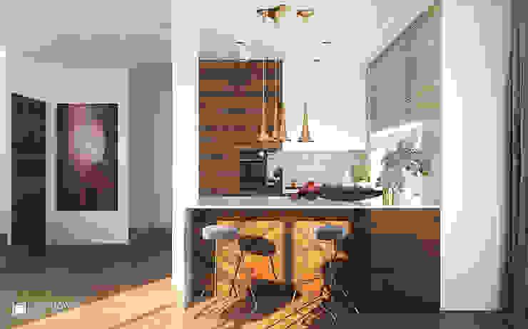 MIDNIGHT Nowoczesna kuchnia od Ludwinowska Studio Architektury Nowoczesny