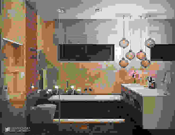 MIDNIGHT Nowoczesna łazienka od Ludwinowska Studio Architektury Nowoczesny