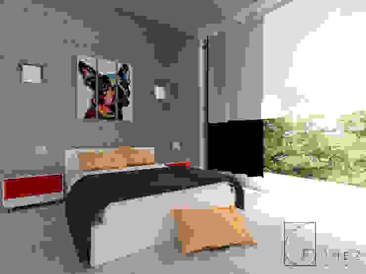GóMEZ arquitectos Modern Bedroom
