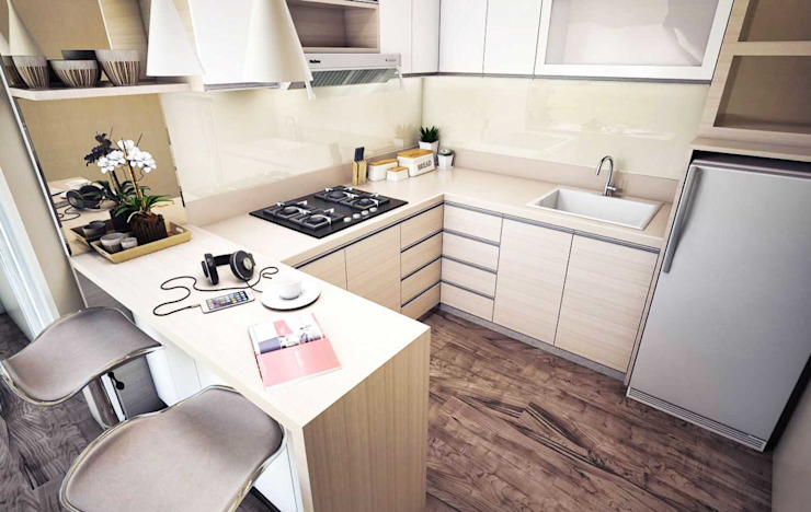 Kitchen set: Dapur built in oleh Maxx Details,