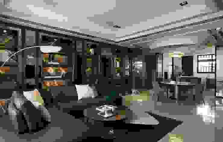 瀞若.覓謐  Sequestered Reality 现代客厅設計點子、靈感 & 圖片 根據 理絲室內設計有限公司 Ris Interior Design Co., Ltd. 現代風