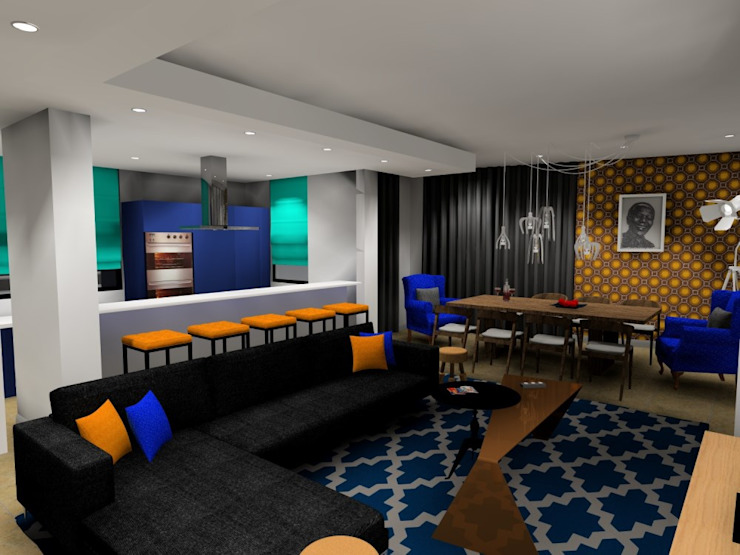 living room: modern  by AB DESIGN, Modern