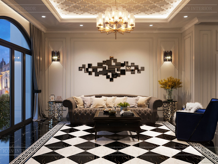 Design for Villa – In Neoclassic Style bởi ICON INTERIOR Hiện đại
