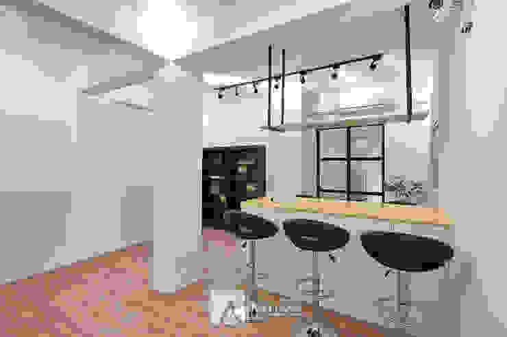 吧台 根據 芸匠室內裝修設計有限公司 工業風 大理石
