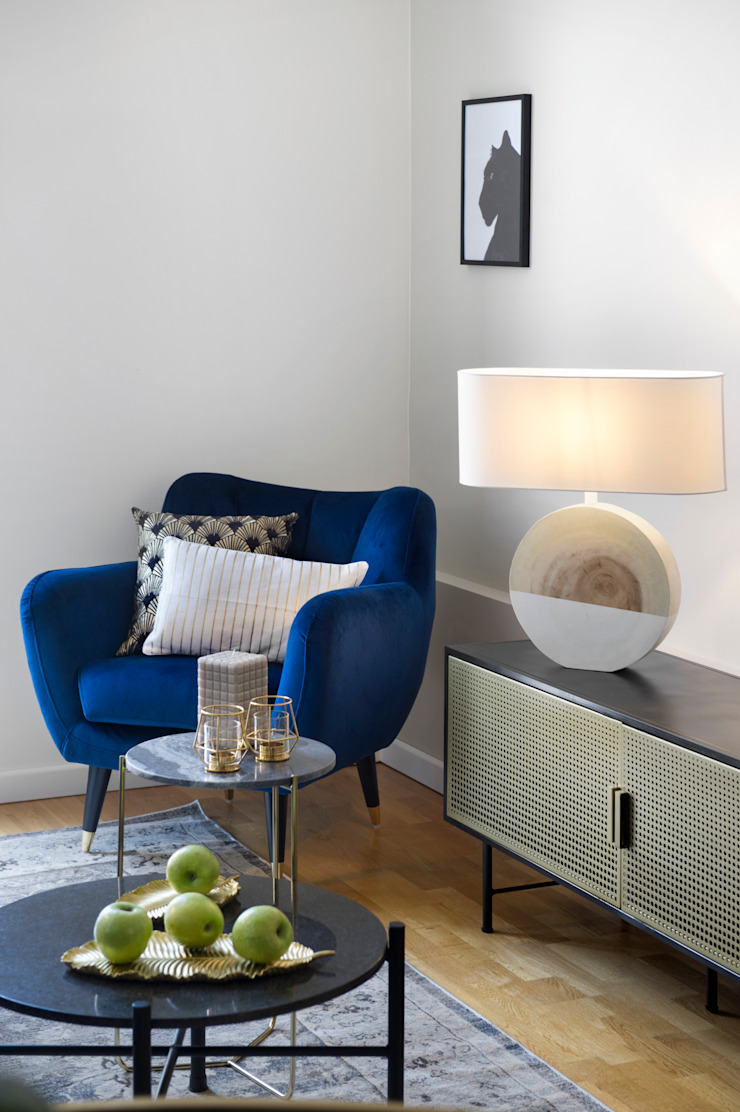 Eclectic style living room by Egue y Seta Eclectic