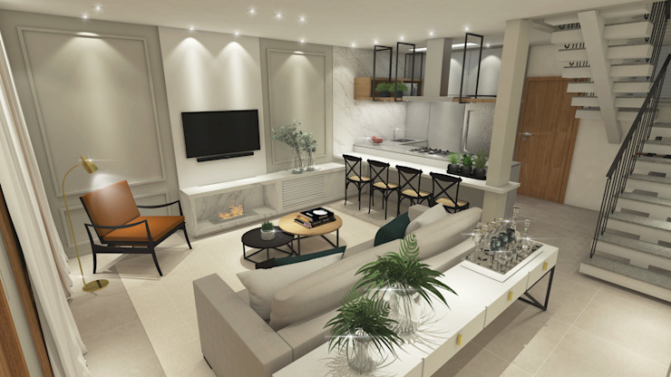 Casa DL Salas de estar modernas por ZOMA Arquitetura Moderno