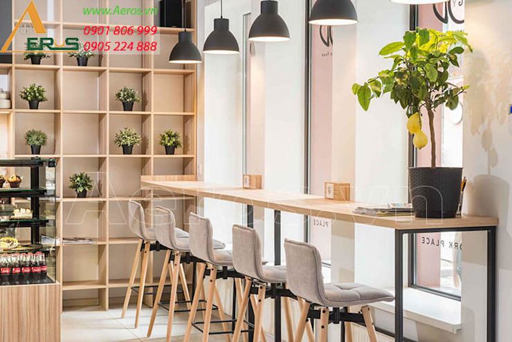 Thiet ke thi cong quan cafe Ban Mai - Quan 7 bởi xuongmocso1 Địa Trung Hải