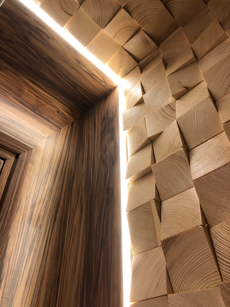 Lighting feature Modern offices & stores by Brilliant Design & Construction Ltd. Modern