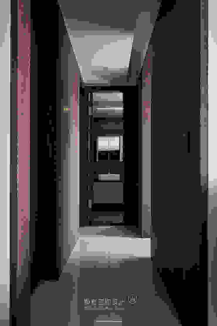 台北市 內湖區 劉公館 顥岩空間設計 現代風玄關、走廊與階梯