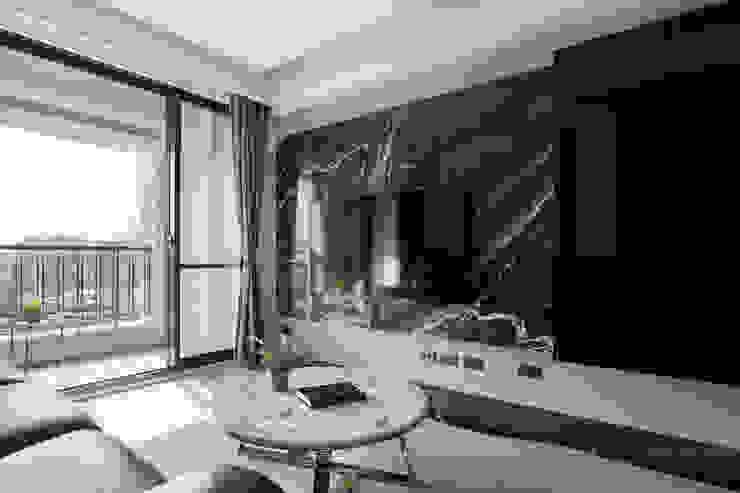 台北市 內湖區 劉公館 顥岩空間設計 现代客厅設計點子、靈感 & 圖片