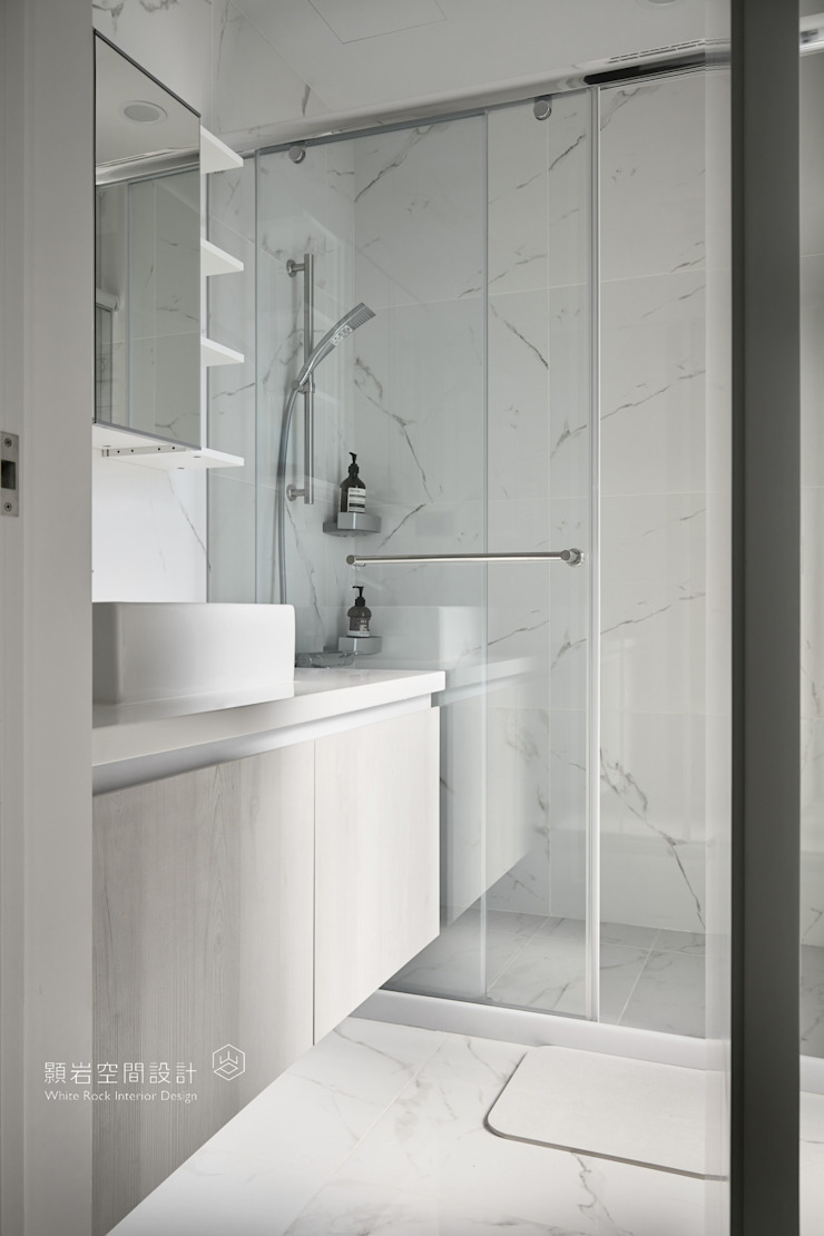 台北市 內湖區 劉公館 顥岩空間設計 現代浴室設計點子、靈感&圖片
