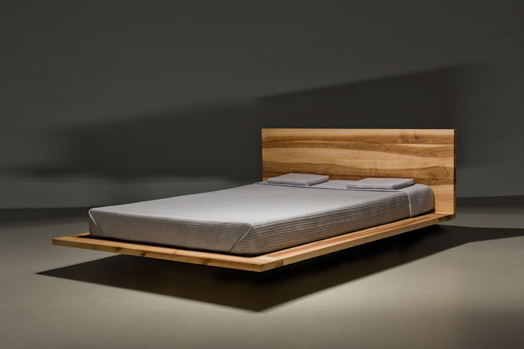 Łóżko MOOD od mazzivo Minimalistyczny Drewno O efekcie drewna