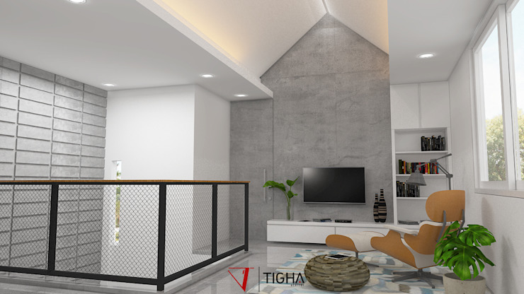 Modern media room by Tigha Atelier Modern