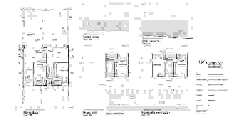 Casas de estilo minimalista de 1.61 Arquitectos Minimalista