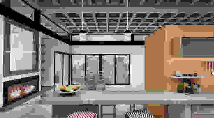 Diseño de Casa en Cañitas 01 por 1.61 Arquitectos Comedores modernos de 1.61 Arquitectos Moderno