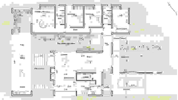 Diseño de Casa en Cañitas 01 por 1.61 Arquitectos Casas modernas: Ideas, imágenes y decoración de 1.61 Arquitectos Moderno